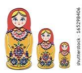 russian tradition matryoshka... | Shutterstock .eps vector #165298406