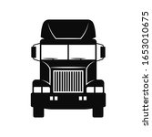 truck tractor icon. front view. ...   Shutterstock .eps vector #1653010675