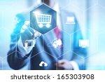 online shopping business...   Shutterstock . vector #165303908