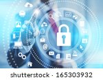 internet security online... | Shutterstock . vector #165303932