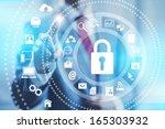 internet security online... | Shutterstock . vector #165303932