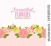 rose frame invitation card.... | Shutterstock .eps vector #165305102