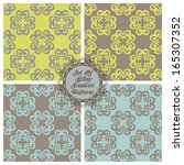 set of seamless pattern with... | Shutterstock .eps vector #165307352