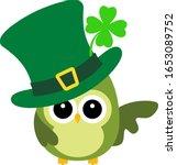 Cute Lucky Owl Vector...