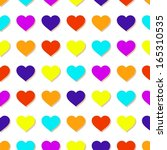 abstract colorful hearts... | Shutterstock .eps vector #165310535