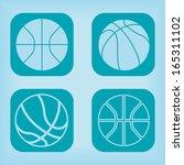 basketball ball icon   four...   Shutterstock .eps vector #165311102