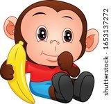 Cute Baby Monkey Cartoon...