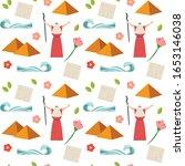 passover seamless pattern....   Shutterstock .eps vector #1653146038