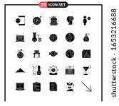 set of 25 solid style icons for ... | Shutterstock .eps vector #1653216688
