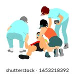 doctor rescue patient first aid ... | Shutterstock .eps vector #1653218392