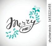 proposal phrase   merry me ... | Shutterstock .eps vector #1653221455