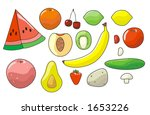fruits and vegetables | Shutterstock .eps vector #1653226