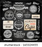 old style coffee frames and... | Shutterstock .eps vector #165324455
