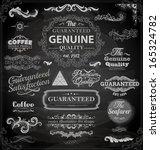 vector set of calligraphic... | Shutterstock .eps vector #165324782