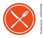 restaurant icon. crossed fork... | Shutterstock .eps vector #165324938
