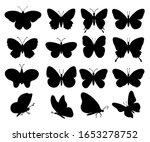 butterflies silhouettes. spring ... | Shutterstock .eps vector #1653278752