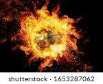 Abstract Circular Flame...