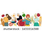 cooking background. pattern... | Shutterstock .eps vector #1653316588
