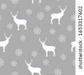 white deer and snowflake on... | Shutterstock .eps vector #1653317602