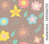 seamless pattern of  flowers... | Shutterstock .eps vector #1653326725