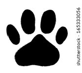 animal paws print. abstract... | Shutterstock .eps vector #165333056
