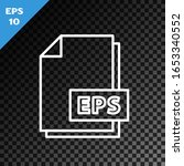 white line eps file document.... | Shutterstock .eps vector #1653340552
