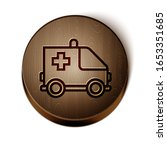 brown line ambulance and... | Shutterstock .eps vector #1653351685