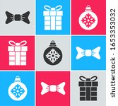 set bow tie  gift box and... | Shutterstock .eps vector #1653353032