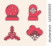set cloud with snow  christmas... | Shutterstock .eps vector #1653353035