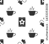 set pair of knitted christmas... | Shutterstock .eps vector #1653353038