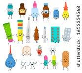 happy medicine characters... | Shutterstock .eps vector #1653354568