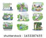 urban gardening 2d vector web... | Shutterstock .eps vector #1653387655