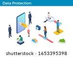 digital internet security... | Shutterstock .eps vector #1653395398