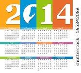 Calendar 2014 With The Symbol...