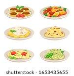 pasta dish italian cuisine ... | Shutterstock .eps vector #1653435655