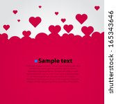 many flying hearts. simple... | Shutterstock .eps vector #165343646