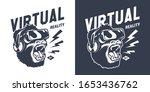 vintage gaming monochrome print ... | Shutterstock . vector #1653436762