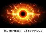 abstract vector digital... | Shutterstock .eps vector #1653444028