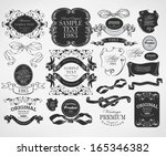 calligraphic design elements | Shutterstock . vector #165346382