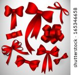 bow collection | Shutterstock . vector #165346658
