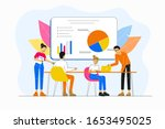 business concept idea. pointing ... | Shutterstock .eps vector #1653495025