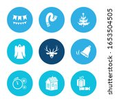 christmas icon set and paper... | Shutterstock .eps vector #1653504505