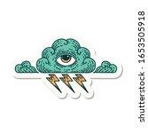 sticker of tattoo in... | Shutterstock . vector #1653505918