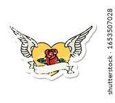 distressed sticker tattoo in... | Shutterstock . vector #1653507028