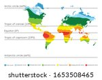 world map with climate zones ...   Shutterstock .eps vector #1653508465