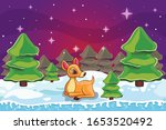 winter landscape with christmas ... | Shutterstock .eps vector #1653520492