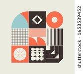 brutalism art inspired abstract ... | Shutterstock .eps vector #1653539452