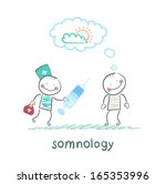somnology stands next to a... | Shutterstock .eps vector #165353996