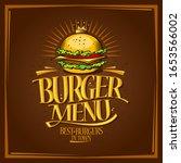 Burger Menu Lettering Design...