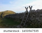 Wooden Ladder Stile For Gettin...